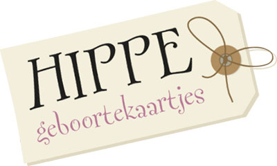 Hippe geboortekaartjes logo