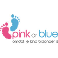 pink or blue logo