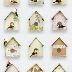 Natuurlijk kunnen de vogelhuisjes van Studio Ditte niet ontbreken ...