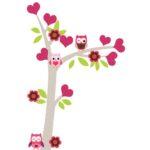 DecoDeco roze muursticker met uitljes