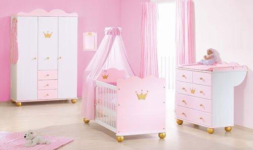 Roze Pinolino prinses Karolin babykamer