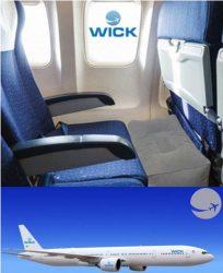 wickair vliegtuigbedje